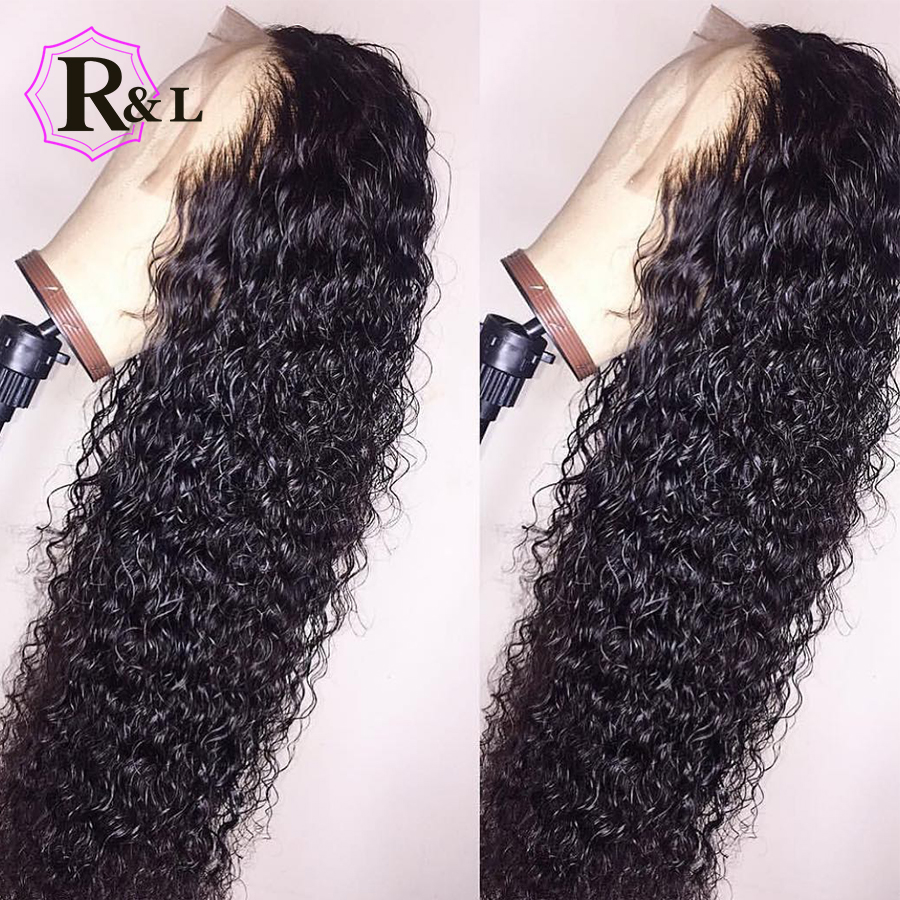 RULINDA 13 6 Deep Part Brazilian Lace Front Human Hair Wigs Pre Plucked Curly Remy Hair