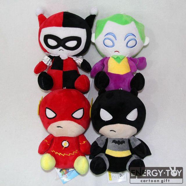 47 20 De Réduction8 20 Cm 4 Style Dessin Animé Super Héros Flash Batman Harley Quinn La Blague Peluche Peluche Douce Poupée Figure Mignon Beau