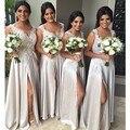 2016 Hot venta elegante una línea de largo Bridemaid vestido de encaje con la bodas de plata vestido de fiesta vestido plisado palabra de longitud gasa Vestidos
