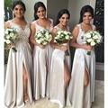 2016 venda quente elegante A linha Bridemaid vestido com vestido de casamento plissado andar de comprimento Chiffon Vestidos