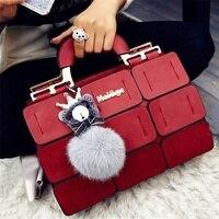 Модная женская сумка с куклами 9 Сращивание сетки дамские сумки с верхней ручкой сумка на молнии с застежкой клатч новые сумки