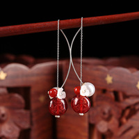 925 Earrings Jewelry Silver Hook Sterling Hanging Earrings Bride Jewelry Gift Dangle Hook Wholesale Long Earrings For Women