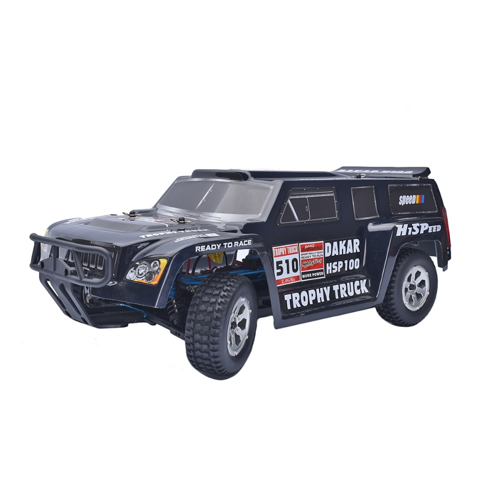 HSP Rc Car DAKAR H100 1/10 Off Road 94128PRO Trophy Truck Brushless Motor ESC With Lipo Battery 2.4Ghz Radio Control Car 02023 clutch bell double gears 19t 24t for rc hsp 1 10th 4wd on road off road car truck silver