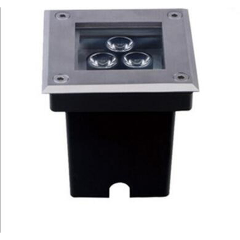 30pcs lot 3w ac85 265v led square inground buried light. Black Bedroom Furniture Sets. Home Design Ideas