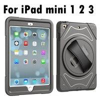 עבור אפל iPad mini 1/2/3 בעל חגורה יד גוף מלא שריון עמיד הלם Case כיסוי עבור iPad mini 3 2 1