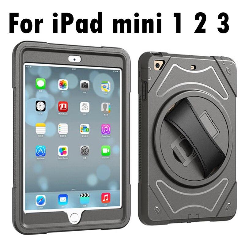 """""""Apple iPad mini 1/2/3 rankinio diržo laikiklio pilno korpuso šarvai"""" atsparus korpusui iPad mini 3 2 1"""