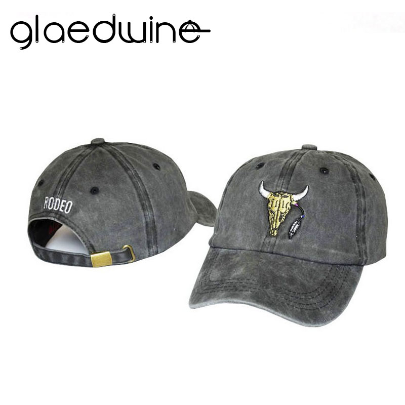 Glaedwine 2017 Gloednieuwe Baseball Caps Aangepaste Designer 6 Panel Dad Hat Baseball Hoed Travis Scotts rodeo Cap snapback caps