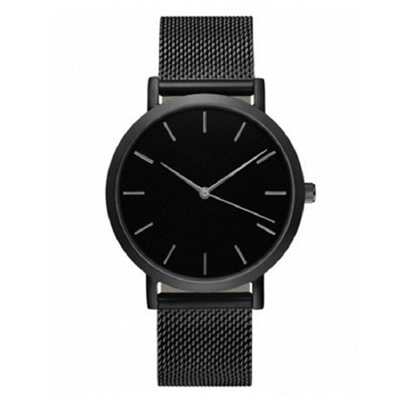 Relogio Feminino Top Brand Men Watches Fashion Stainless Steel Analog Quartz Wrist Watch Lady Luxury Mesh Band Bracelet Watch Sk