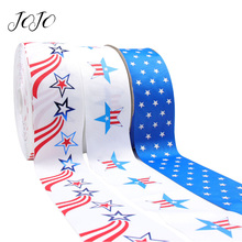 JOJO BOWS 75mm 2y Grosgrain Ribbon Printed National Flag For DIY Hair Bows Material Apparel Sewing Materials Home Decoration
