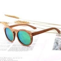 96d4136eed Gafas de sol madera redondas mujer Vintage polarizadas para hombre gafas  marca diseñador cebra. Vintage Women Round Wooden Sunglasses Polarized Mens  Sun ...