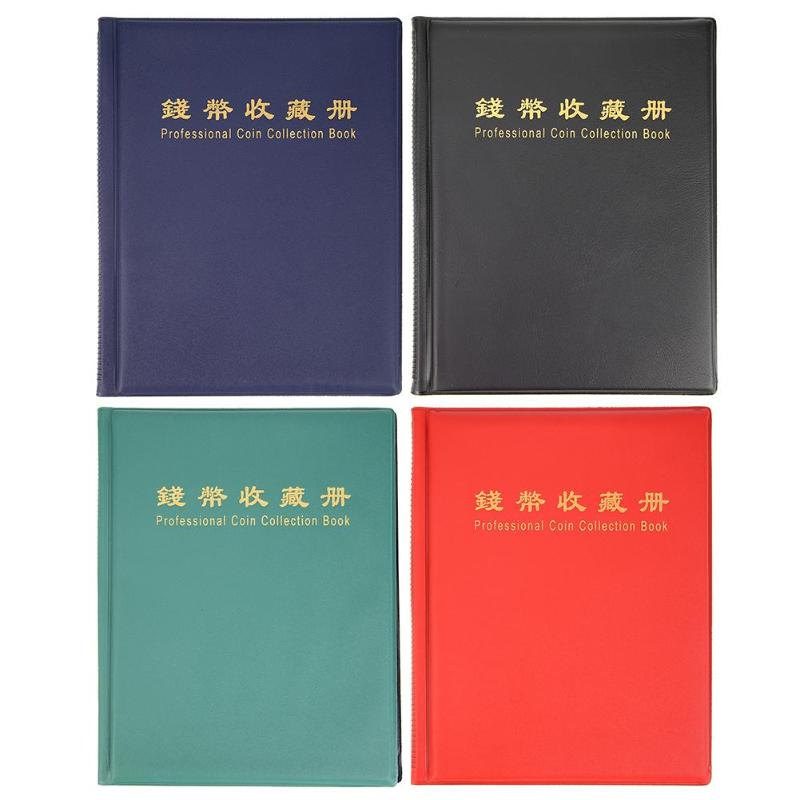 200 Pockets Coin Album Holder Penny Money Folder Storage Collection Book High-quality imitation leather Beautiful texture image