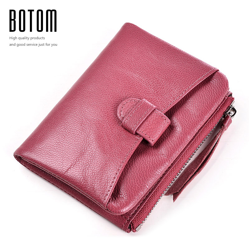 SheepSkin Real Leather Coin Purse Women Short Wallet 2017 High Quality Small Soft Wallet Coin Pocket Card Wallet Female Purses