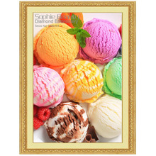 DIY Diamond Painting Cross Stitch Crystal Needlework Ice-cream Cakes Food Full Square Embroidery House Wall Decor