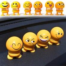 Встряхиватель игрушки автомобиль украшения Bobblehead Кид куклы милый мультфильм Забавный эмодзи вобл голова робот Милая машина Декор приборной панели