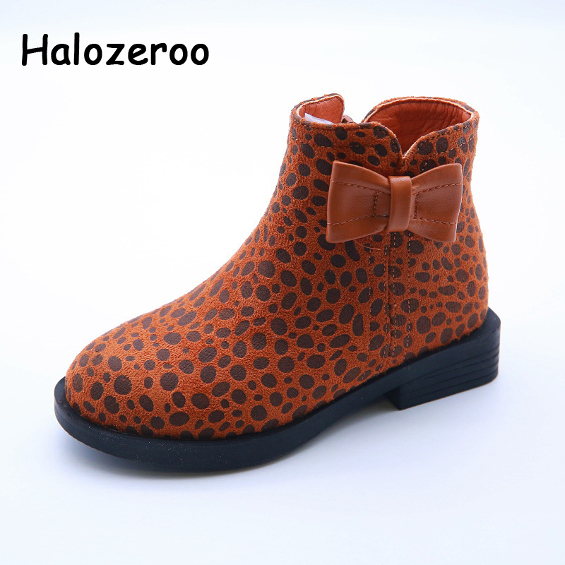 Winter New Children Leopard Warm Shoes Baby Girl Genuine Leather Ankle Boots Kid Soft Black Shoes Princess Fashion Brand ShoesWinter New Children Leopard Warm Shoes Baby Girl Genuine Leather Ankle Boots Kid Soft Black Shoes Princess Fashion Brand Shoes