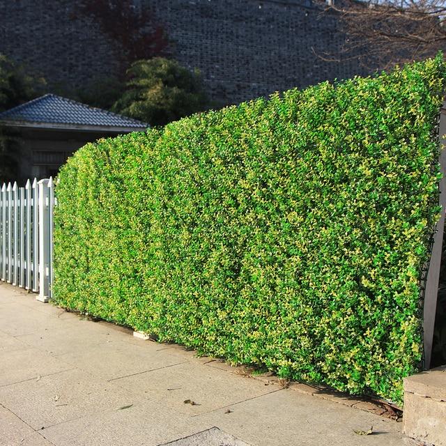 Lawn Hedges: ULAND Artificial Hedges Plastic Plants For Decoration