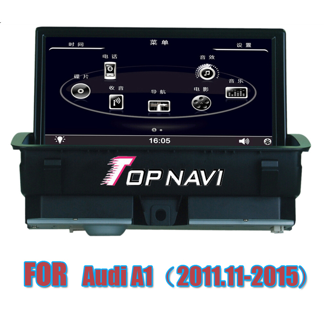 Free Shipping  7'' Wince Car Stereo GPS For A1 2011-2015 for Audi With Bluetooth Free Map Navigation