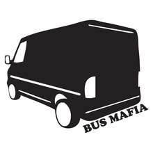 CS-486#15*19cm 24*30cm BUS MAFIA funny car sticker and decal silver/black vinyl auto stickers