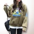 Pullover Con Capucha Sudaderas Mujer Otoño Invierno 2016 Nueva Impresión de la Letra de Gran Tamaño de Corea Harajuku Moleton Sudaderas Con Capucha Para Las Mujeres