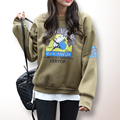 Pullover Hoodie Sudaderas Mujer 2016 Autumn Winter New Moleton Korea Harajuku Print Letter Oversize Hoodies Sweatshirt For Women
