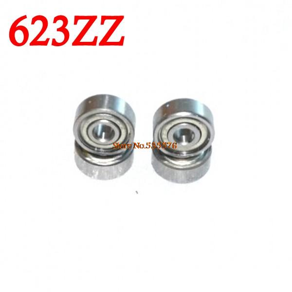 Integrated Circuits 10pcs/lot 623zz Bearing 623-zz 3x10x4 Miniature Deep Groove Ball-bearing 623 2z Zz Bearing 623z