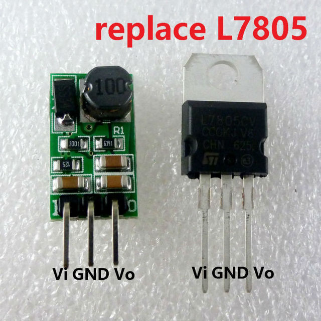 5W 6 5-40V to 5V DC DC Converter Step-Down Buck Module Voltage regulator  Directly replace TO-220 L7805 LM7805 LDO IC