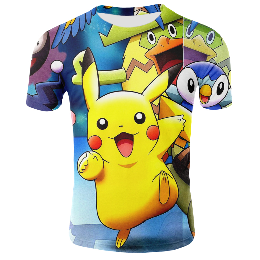 New 2019 Movie <font><b>Detective</b></font> <font><b>Pikachu</b></font> 3D T-shirt Men Women Pokemon <font><b>Pikachu</b></font> <font><b>Tshirt</b></font> Casual Anime Cartoon Short Sleeve Funny T Shirt image