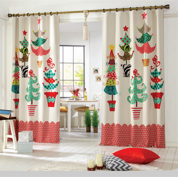 Free Shipping Window Curtains For Living Room Balcony Study Christmas Tree In Curtains From