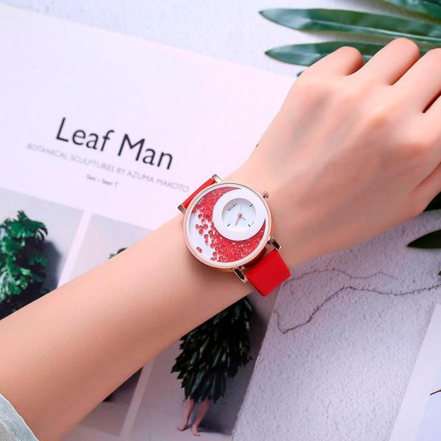 אופנה פשוט עסקי יוקרה נשים של קוורץ שעון נירוסטה טמפרמנט יפה מזכרות גבירותיי שעוני יד 2018 # D