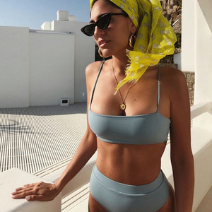 Image 5 - ZTVitality סקסי ביקיני מוצק לדחוף את ביקיני 2020 מכירה לוהטת מרופד חזיית רצועות גבוהה מותן בגד ים בגדי ים נשים הדפסת בגדי ים S XL