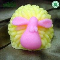 Średni Kręcone owce ręcznie czekolady formy silikonowe formy dla zwierząt kształt mydło mould
