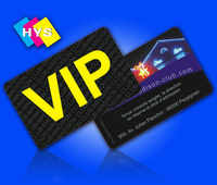 Plastic VIP membership card with hot stamping for smart rfid