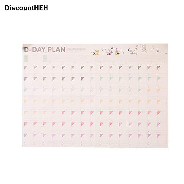 2018 100 day countdown calendar learning schedule periodic planner