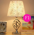 European Resin White Carved Top Quality Table Lamp Hotel Room Bedside Light Smooth Decorated Sateen Fabric Lampshade F