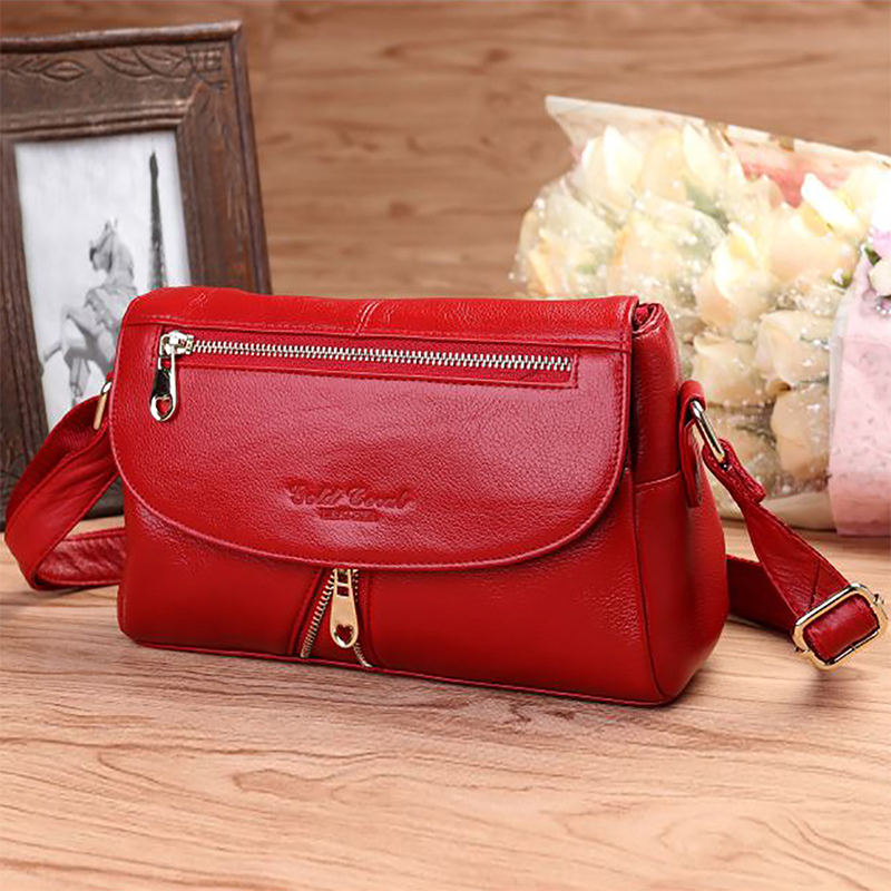 Genuine Leather Women Shoulder Bag High Quality Ladies Hobo First Layer Cowhide New Fashion Female Cross Body Messenger Bags
