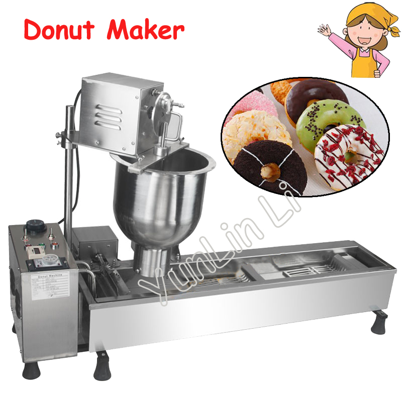 Full-Automatic Donut Maker Multi-Functional Donut Making Machine Commercial Use Stainless Steel Donut Maker 90mm big size donut waffle machine automatic electric mini commercial donut making machines
