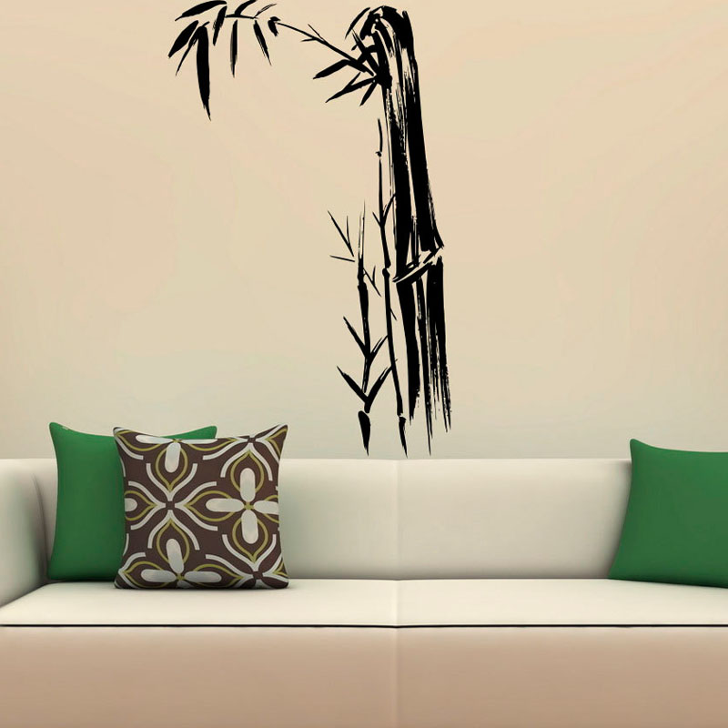Bamboo Leaves Wall Stickers PVC Removable Art Design Sticker Wall Decals  Home Decor Room Decoration Waterproof. High Quality Designer Wall Decals Promotion Shop for High Quality
