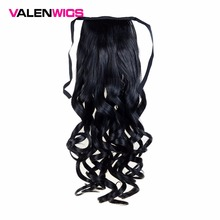 Valenwigs 22inch 100g Synthetic Hair Wavy Style High Temperature Fiber Warp Around Hairpieces Fake Hair Ponytail For Woman