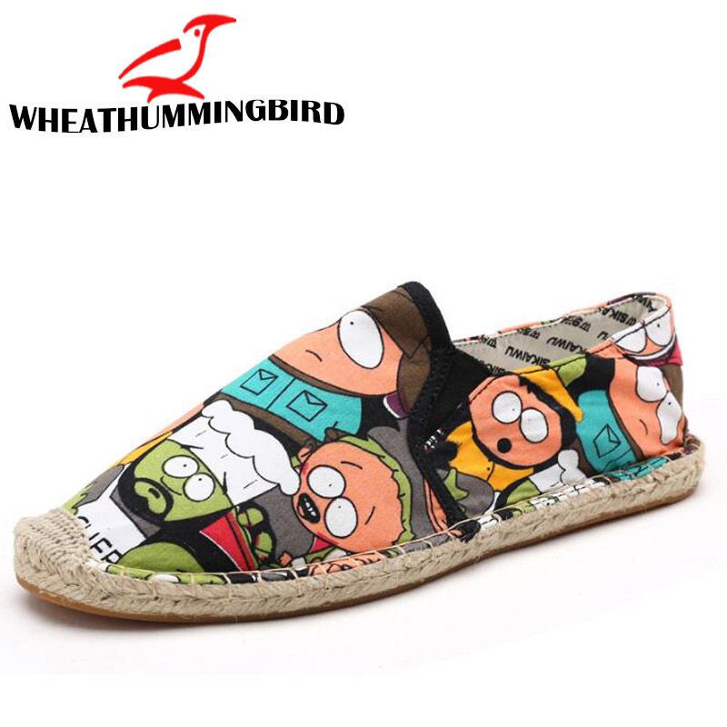 Women Casual canvas Shoes cartoon Linen Girl Espadrille Fisherman Shoes Ladies Flats Plimsolls Loafers driving shoes LF-5050 1