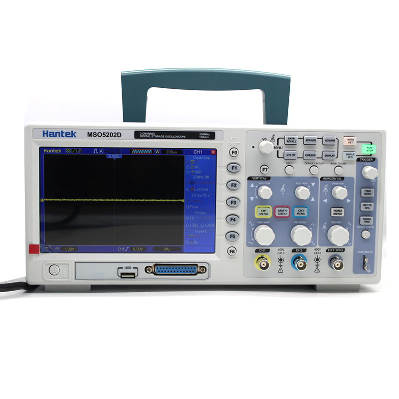 Hantek MSO5202D Digital Oscilloscope USB 200Mhz 2 Channels Hantek Osciloscopio +16Channels Logic Analyzer + External Trigger (7)