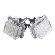 1 Pair Car LED License Plate Lights No Error White Number Plate Lamp For Mercedes Benz W204 5D W212 W216 W221 C207 Accessories стоимость