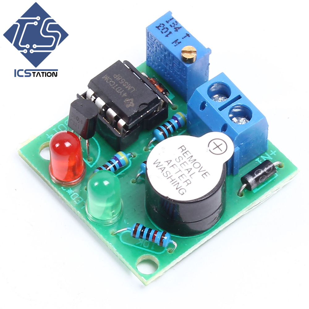 12V On-Board Lipo Battery Low Voltage with LED Indicator Alarm Buzzer Under Vlotage Protection Module rc model 2s 3s 4s detect lipo battery low voltage alarm buzzer