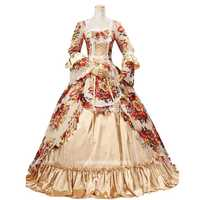 Top Sale Marie Antoinette Dress Ball Gown Printing Baroque Renaissance Dresses