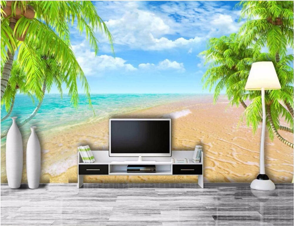 3d Room Wallpaper Custom Mural Non Woven Hawaii Beach