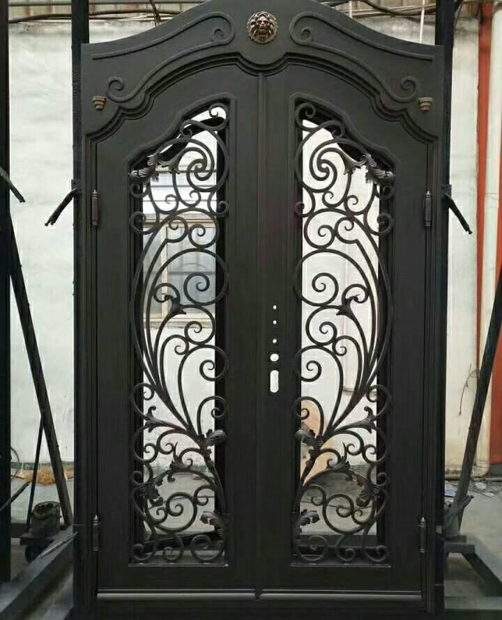 Двойная Передняя входная металлическая дверь маленькая железная дверь