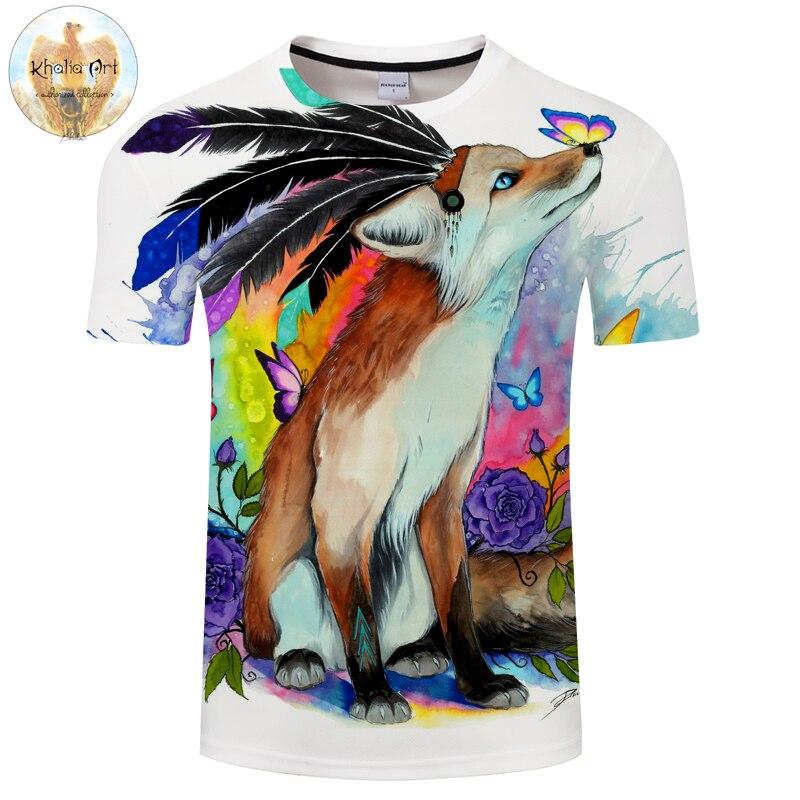 Fuchs friends by KhaliaArt 3D Print t shirt Men Women tshirt Summer Anime Short Sleeve O-neck Tops&Tees Streetwear Drop Ship