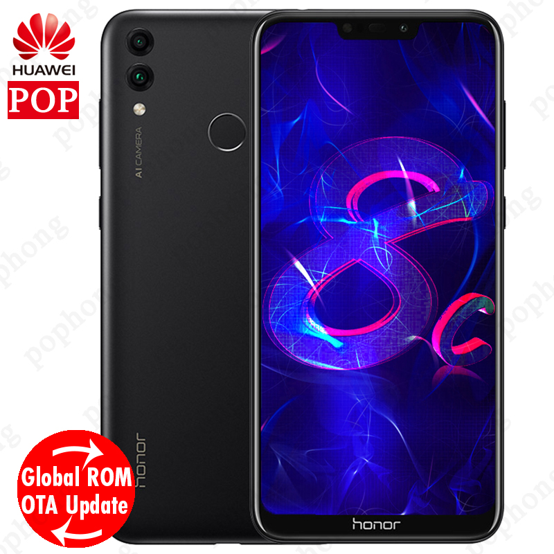 Global Firmware Huawe Honor 8C 6 26 inch Snapdragon 632 Octa Core 4000Mah 3 Cards VoLTE