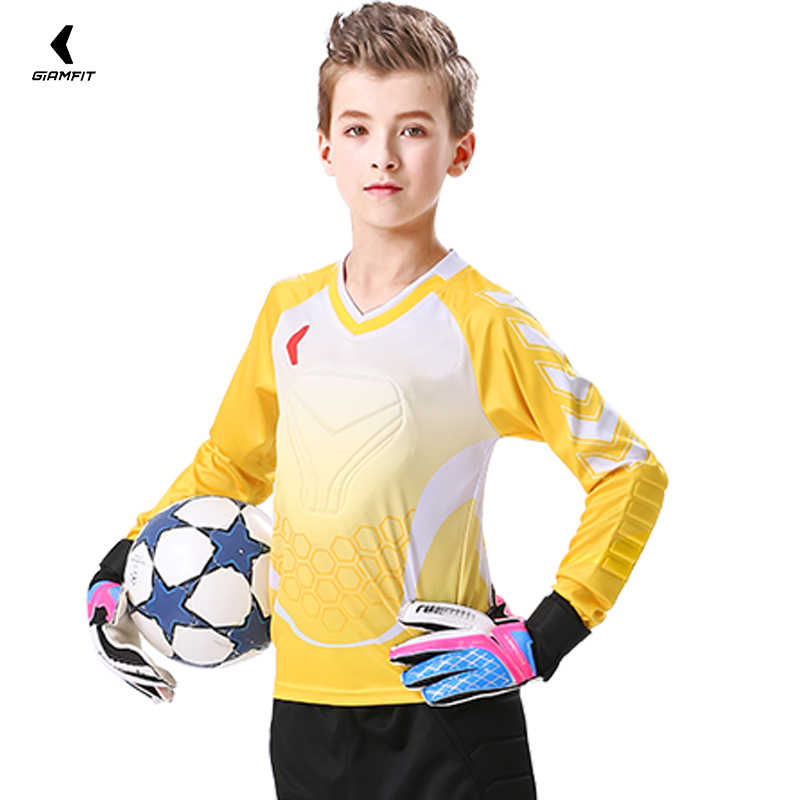 0bde32010 ... Soccer Jersey Goalkeeper Shirt Pants Survetement Football 2018 2019  Training Uniform Suit Kids Thickened Protection Kits ...
