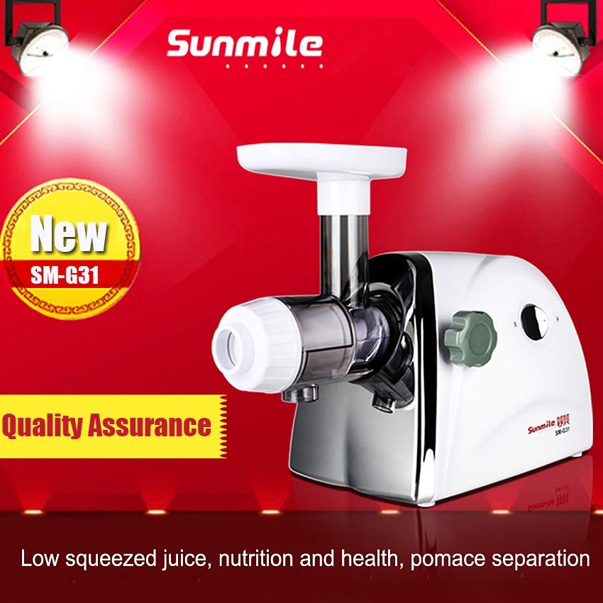 1PC SM-G31 New Arrival Household wheatgrass juicer orange apple slow juice maker Electric juicer Hot Sale