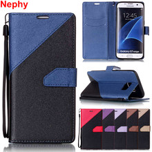 Nephy Phone Case For Samsung Galaxy S4 S5 S6 S7 Edge S8 Plus A3 A5 2016 2017 J3 J5 J7 Prime Soft Leather TPU Full Cover Casing(China)